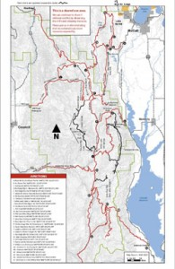 Donnelly Idaho Snowmobile Trail & Area Map