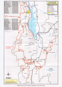 Cascade & Smiths Ferry Snowmobile Trail Map