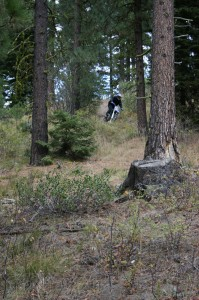 Dirt biking in the Payette National Forest surrounding McCall.