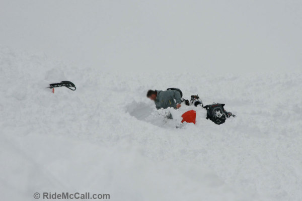 Avalanche Victim Getting Unburried