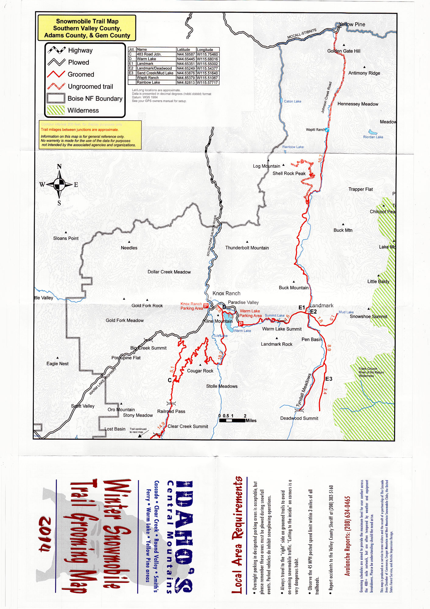 Snowmobile Trail Maps – McCall, Donnelly, Cascade & Smiths