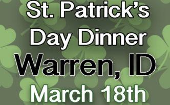Warren Idaho St. Patrick Day Dinner
